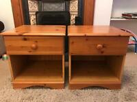 Pair of Matching Pine Bedside Cabinets
