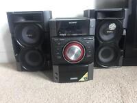 Sony 380w speakers with iPod dock