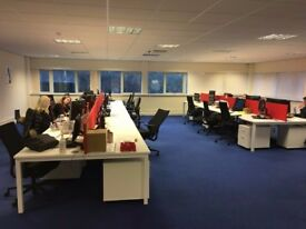 LARGE CONSIGNMENT OF NEW OFFICE FURNITUE - WHITE WITH MESH CHAIRS