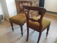 2 stunning antique chairs