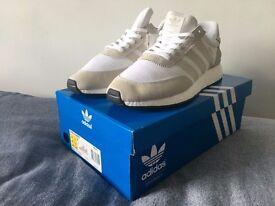 Adidas Iniki Runner - White/Pearl Grey/Core Black - UK 11.5 US 12