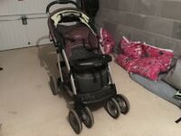 Child's buggy with adjustable seat.