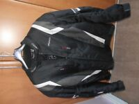 black rs motorbike jacket with armour
