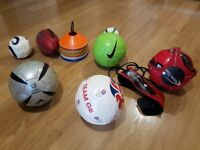Footballs, rugby ball, training cones and Star Kick trainer