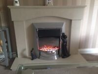 Real Marble fire surround,hearth and fire