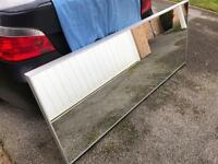 Mirror Large mirror with grey frame 6.5ft x 2.6ft Can hang both ways