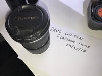Tokina 11-16mm f2.8 wide angle zoom, Canon EF fit mount (EOS) - Great condition