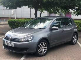 VOLKSWAGEN GOLF MK6 1.6 TDI. GREY. 2010. 2 OWNERS FROM NEW. HPI CLEAR