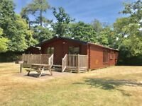 For Sale Luxury Log Cabin Lodge at Sandy Balls in the New Forest in Dorset Hampshire vip poole
