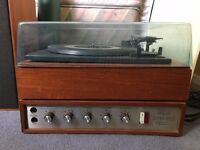 REDUCED - Vintage Record Player - Garrard SP25 Mk II - complete with cover, and two speakers