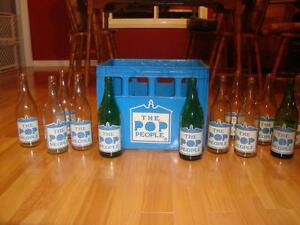 "Full Case Soda Bottles ""The Pop People"" from Oshawa ON - RARE !!"