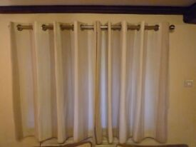 One Pair Lined Curtains from Range
