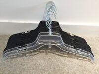 10 Plastic notched Hangers swivel hook