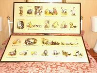 2 LARGE CHILDRENS OR NURSERY PICTURES