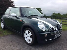 Low Mileage, 1.6 petrol Mini Cooper with Full MOT, good condition from a non-smoking household