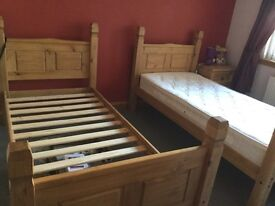Mexican corona solid pine Bedroom furniture.