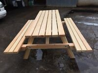 Workshop made heavy duty picnic benches