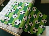 Soccer Theme Curtains and Single Duvet Cover