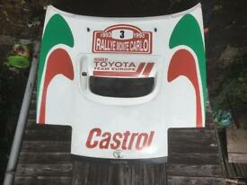 Toyota Celica rally replica bonnet