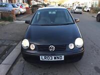 2003 Volkswagen Polo Automatic Petrol Facelift 1.4 S 5dr Hatchback Black