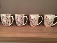 4 mugs/cups pretty Print