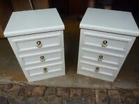 2 x White 3 Drawer Set Bedroom Drawers Delivery Available lg