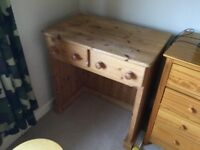 Solid pine desk/ dressing table.