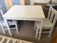 Toddler table and two chairs