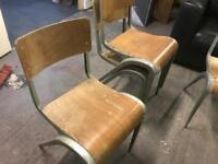 100 stackable vintage retro bar pub restaurant chairs