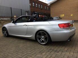 2009 (58) BMW 320i 2.0 M SPORT CONVERTIBLE 2DR PETROL MANUAL SILVER, 74K MILES