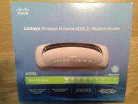 Linksys WAG120N Wireless-N Home ADSL2+ Modem Router - as new condition.