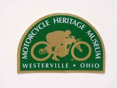 NOS Motorcycle Heritage Museum Decal - AHRMA Vintage Sticker Westerville, Ohio ()