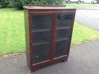 Antique oak display book cabinet. Buyer collect. £40