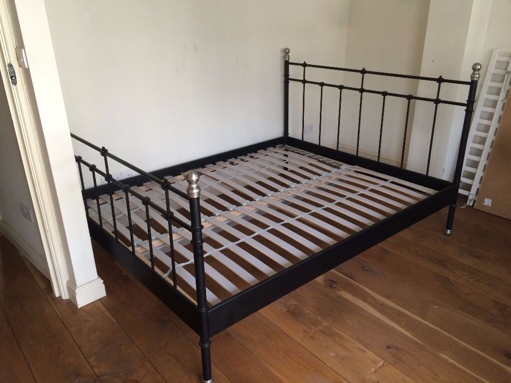 Ikea Svelvik Black Double King Bed Frame In Trinity
