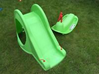 Toddler slide and rocker