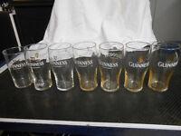 7 X GUINNESS Pint Glasses