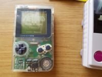 Nintendo Gameboy with games, leather case,printer