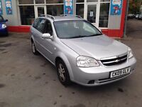 Chevrolet Lacetti, 1.6 LX estate, only 82000 miles, 2 owners, excellent value for a 2009 car.