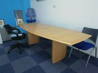 Real Wood Boat-Shaped Tables - *Suitable for Big Offices and Events* From £595.00+VAT