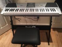 RockJam RJ661 61 Key Electronic Piano Keyboard with Stand and Stool