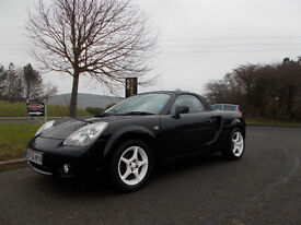 TOYOTA MR2 ROADSTER CONVERTIBLE STUNNING BLACK 2004 ONLY 77K MILES BARGAIN 2450 *LOOK* PX/DELIVERY