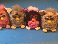 A joblot of 4 cute Vintage furbys series 1998