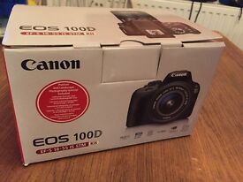 Canon EOS CAMERA 100d with 18-55 zoom lens - boxed - new