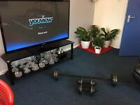 A professional, valuable and a wonderful barbell & 2 dumbbells for sale!