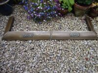 Antique Copper/Brass On Timber Fireplace Fender(Requires polishing).