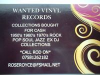 WANTED VINYL RECORD COLLECTIONS ALL TYPES TOP PRICES FOR QUALITY COLLECTIONS