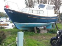 colvic watson 23 coastal/river motor boat with diesel engine