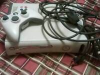 Xbox 360 plus cables and Controller