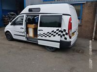 2005 mercedes vito day/camper van newly refurbished in side and out