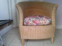 2 Habitat wicker Conservatory Chairs